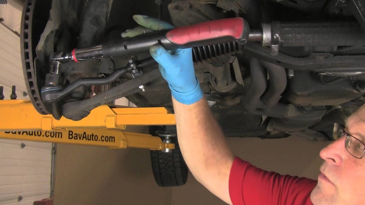 Part 2 installing tie rods on a bmw with rack pinion e30 etc youtube