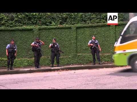 Police in Rio de Janeiro were reinforcing patrols in the Brazilian city's biggest shantytown on Mond
