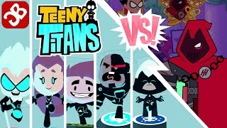 Multiverse Teeny Titans Team VS The Hooded Hood - iOS / Android - Gameplay Video