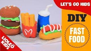 Bé học tiếng Anh về Màu sắc & Đồ ăn - Colors & Food | Hamburger đất sét | Lioleo English for kids