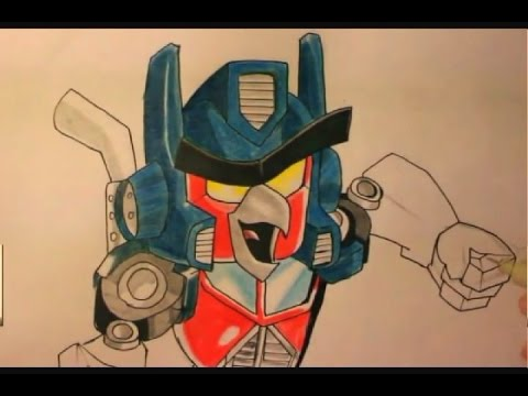 Angry Birds Transformers Drawings Angry Bird Transformer-how to