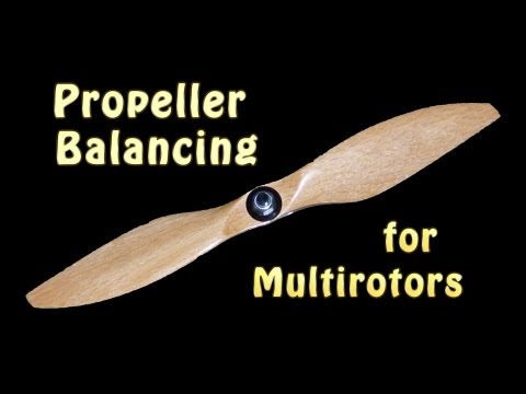 one of the most important things you can do to make your multirotor fly better and to get smooth jello free video footage is to balance the propellers. Multi...