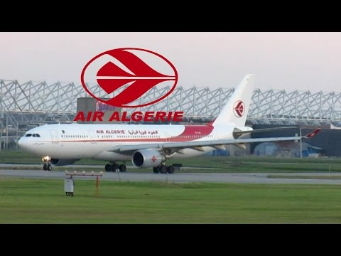 Air Algérie A330-202 (A332) taxiing & departing YUL on 24R