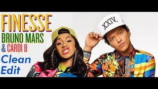 Download Lagu Bruno Mars - Finesse (Remix) [Feat. Cardi B] [CLEAN EDIT] Gratis STAFABAND
