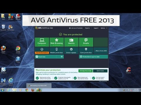 How to install AVG 2013 Virus Protection for FREE - Anti Virus Protection for Computers
