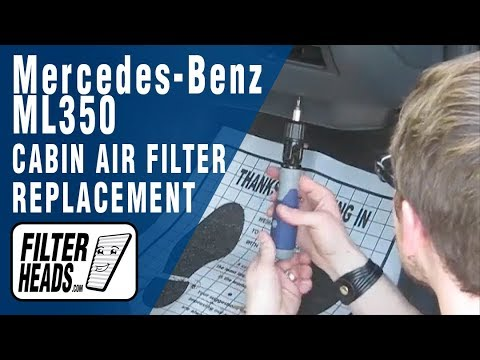 Cabin air filter replacement- Mercedes-Benz ML350
