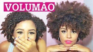Como fazer VOLUMÃO no cabelo - black poderoso!