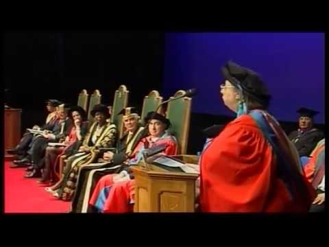 Hilary Mantel receives an honorary doctorate from the University of Exeter