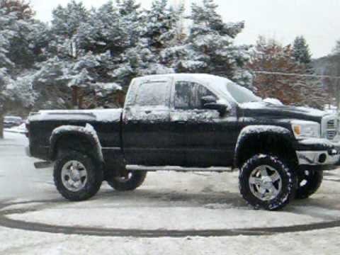 "Colorado Diesel Lifted >> New Dodge 2500 truck with 37"" tires drifting in snow.MOV - YouTube"