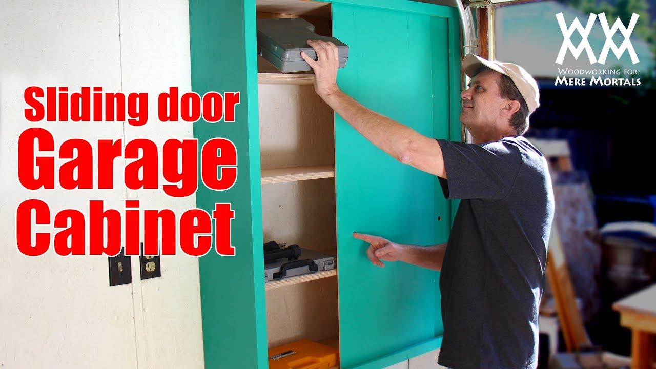 Sliding Door Garage Storage Cabinet Easy Woodworking