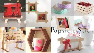 Top 10 DIY Popsicle Stick Craft Compilation | Craft Ideas | Home Decor