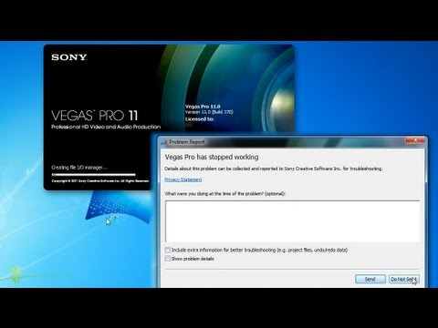 Sony Vegas Pro 12 Start Up Crash Fix! NO DOWNLOAD REQUIRED! MediasHunt