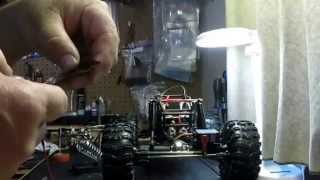 Gmade r1 rock buggy wiring up the LEDs