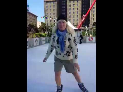 Cindy Warner SF Arts & Culture---Ice skating Union Square San Francisco 2016