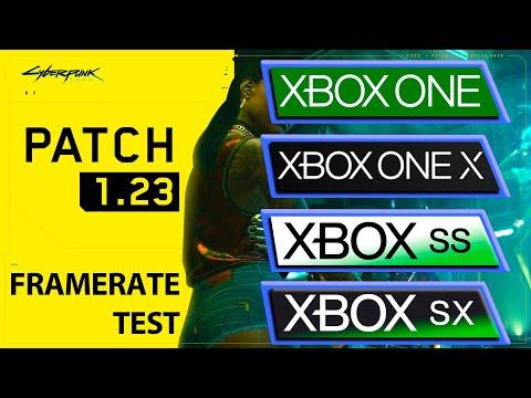Cyberpunk 2077 | Xbox One S|X - Xbox Series S|X | 1.22 - 1.23 Patch FPS Comparison