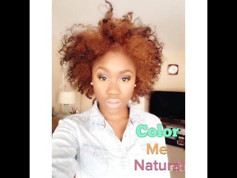 Color Me Natural Strawberry Blonde Natural Hair Youtube