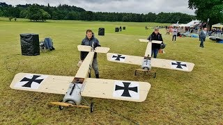 DAWN PATROL GIANT SCALE RC WW1 SCOUT / FIGHTERS DOGFIGHTING DISPLAY AT WESTON PARK AIRSHOW - 2018