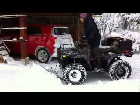 Polaris Sportsman 500 EFI Glacier Snow Plow
