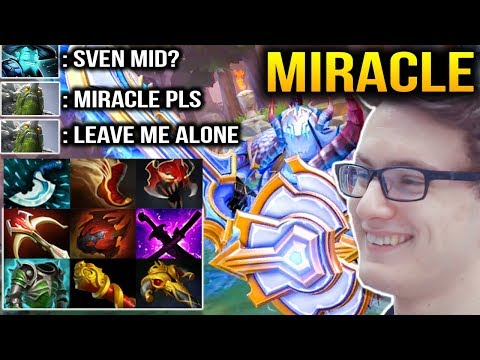 MIRACLE SVEN MID???: He's So FREAKING STRONG Dota 2