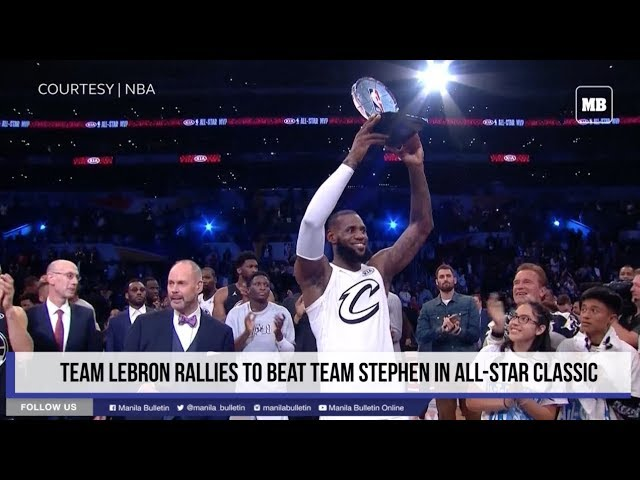 Team LeBron rallies to beat Team Stephen in All-Star classic