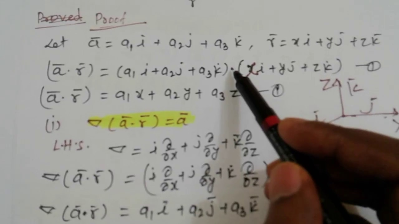 Vector calculus identities
