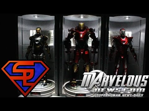 Iron Man 3 Hot Toys Hall Of Armor House Party Protocol Version 1/6 Scale Diorama Review