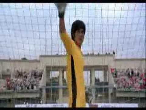 Bruce Lee Goalkeeper video