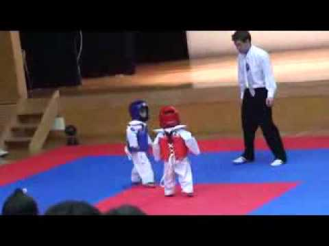 Akward toddler karate