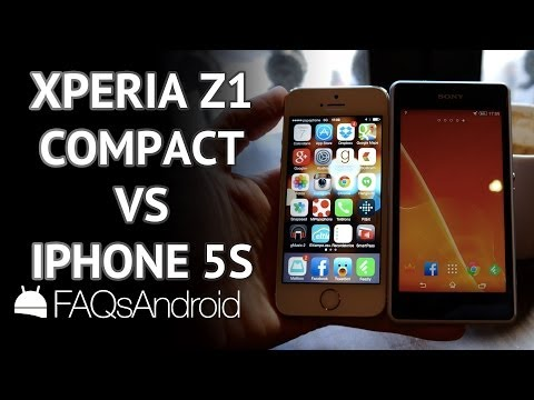 Comparativa iPhone 5S vs Sony Xperia Z1 Compact   FAQsAndroid.com