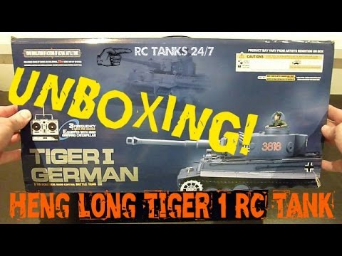 Heng Long 1/16 Tiger 1 RC Tank Unboxing