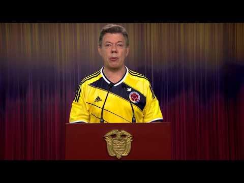 Alocución del Presidente Juan Manuel Santos de agradecimiento a la Selección Colombia de Fútbol