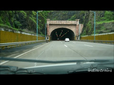 India Travel  Mumbai Pune Expressway express Highway bombay To Lonavala Car Drive india video
