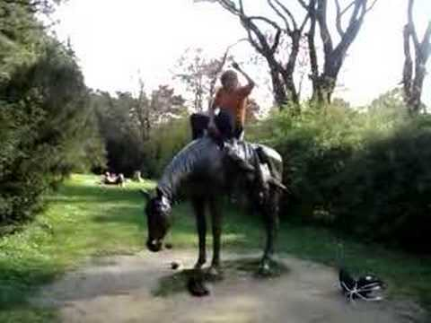 Jan Riding a Ukrainian Horse Video