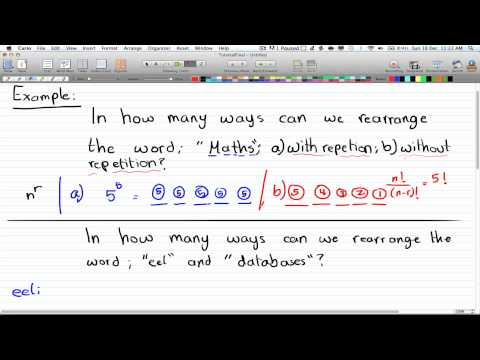 Discrete Math 2 - Tutorial 2 - Permutation Part 1