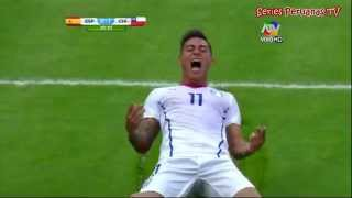 Mundial Brasil 2014 Chile 2-0 España Tv Peruana Gol de Eduardo Vargas