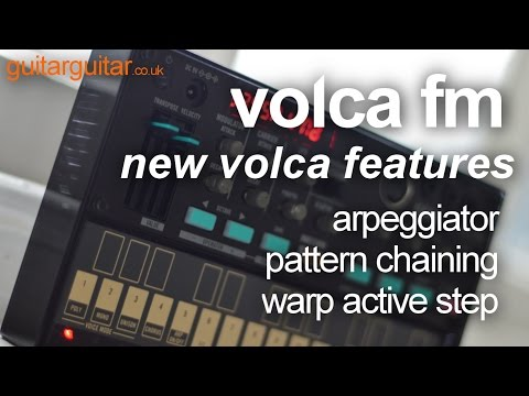 Korg Volca FM - 2 - Hands on with the new features - Warp Active Step, Arpeggiator & Pattern Chain