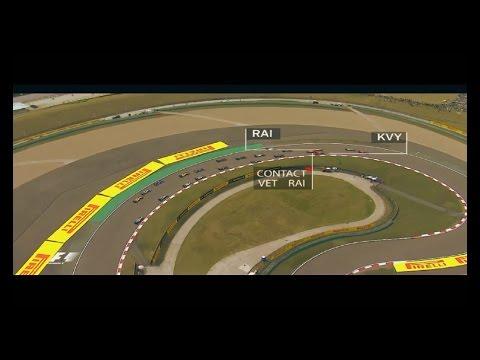 Sebastian Vettel vs Daniil Kvyat incident ||| F1 2016 Chinese GP |||  ONBOARD