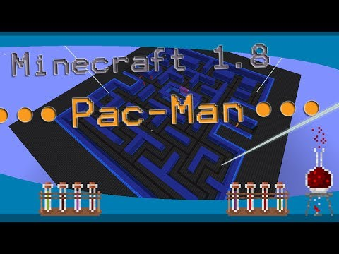 Minecraft 1.8 Pac-man map showcase (download in description)
