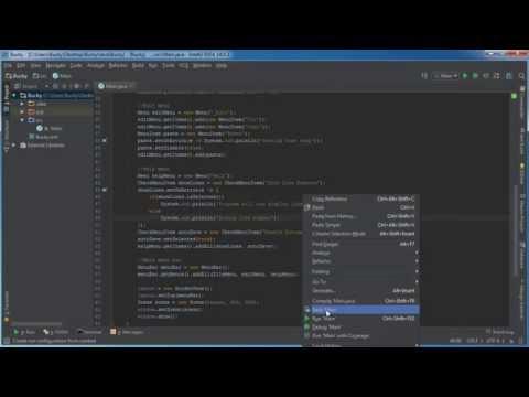 JavaFX Java GUI Tutorial - 23 - CheckMenuItem
