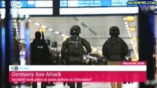 German News Coverage Of Ax Attack In Dusseldorf Train Station 7 People Injured