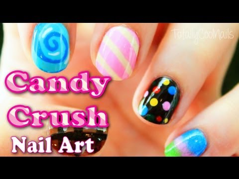 Candy Crush Inspired Nail Art