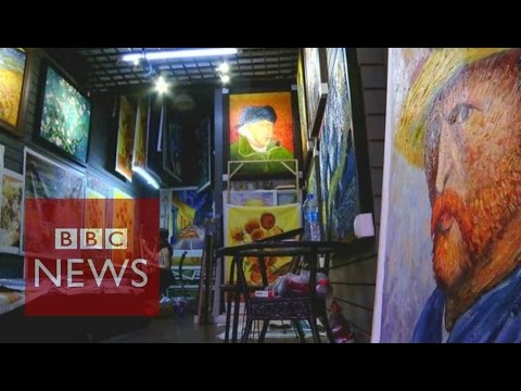 China's giant oil painting copy shop - BBC News