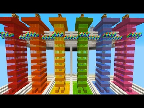 Minecraft RAINBOW LUCKY BLOCK RACE *FASTEST EVER*