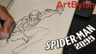 Sketching and Inking Spider-Man 2099!!