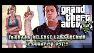 GTA 5 - Midnight Release Livestream! Xbox 360 - 12am-ish CST!!