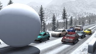 Giant Balls vs. Cars | BeamNG.drive