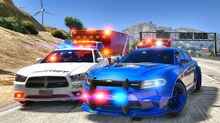 GTA 5 MODS LSPDFR 984  - HELLCAT CHARGER HIGHWAY PATROL!!! (GTA 5 REAL LIFE PC MOD)