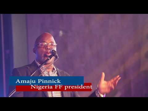 Nigerian FF President Pinnick Says CAF Presidential Candidate Ahmad Already Guaranteed 35 Votes