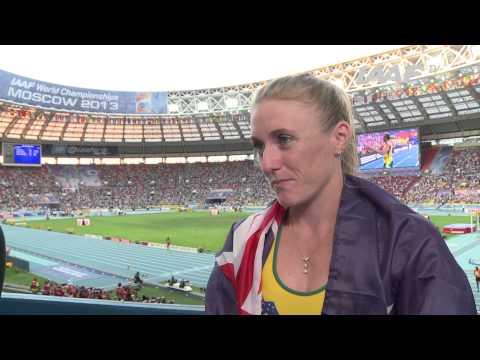 Moscow 2013 - Sally PEARSON AUS - 100m Hurdles Women - Final Silver