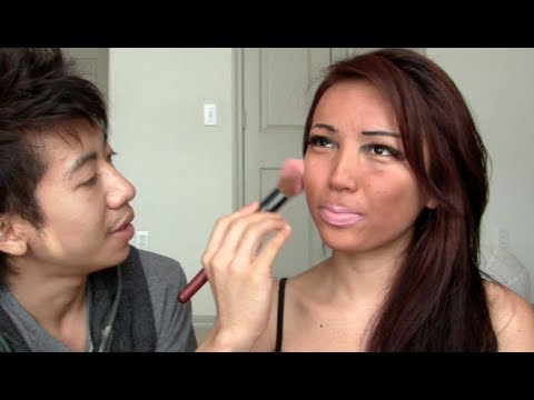 My husband does My Make-up (Me as Snooki)